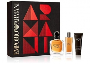 Zestaw upominkowy Armani Stronger With You 100 ml woda toaletowa +100 ml woda toaletowa 15 ml + 75 ml żel pod prysznic