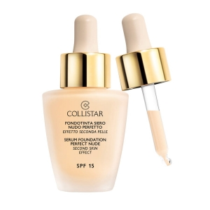 Collistar Serum Foundation Perfect Nude SPF15 Second Skin Effect podkład do twarzy 1 Avorio 30ml